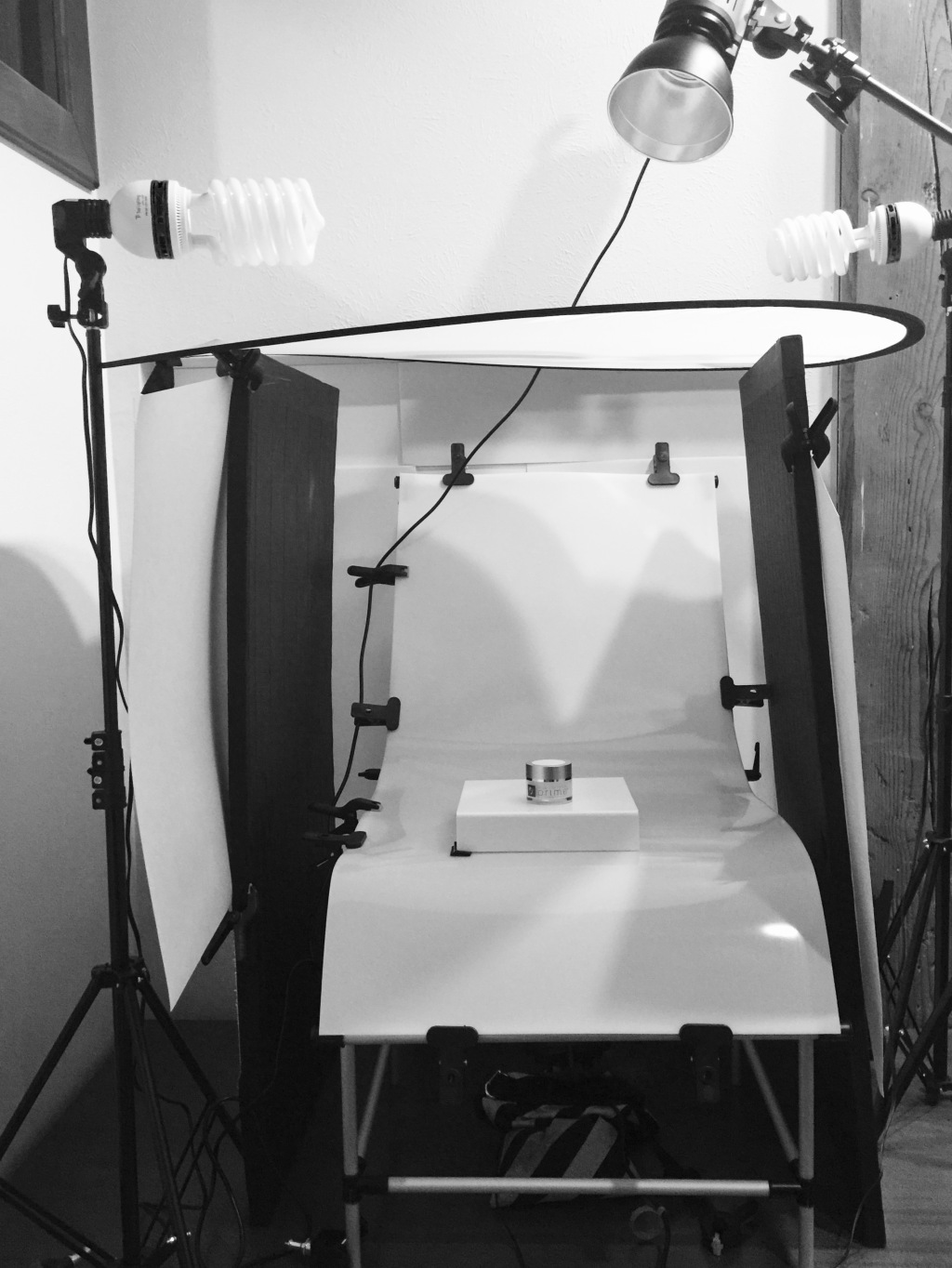 Product Photography Table Setup.